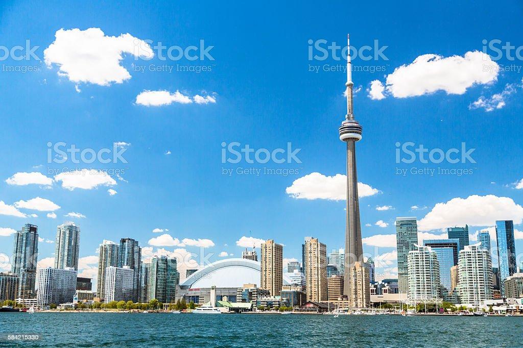 Coastline of Lake Ontario in Toronto stock photo
