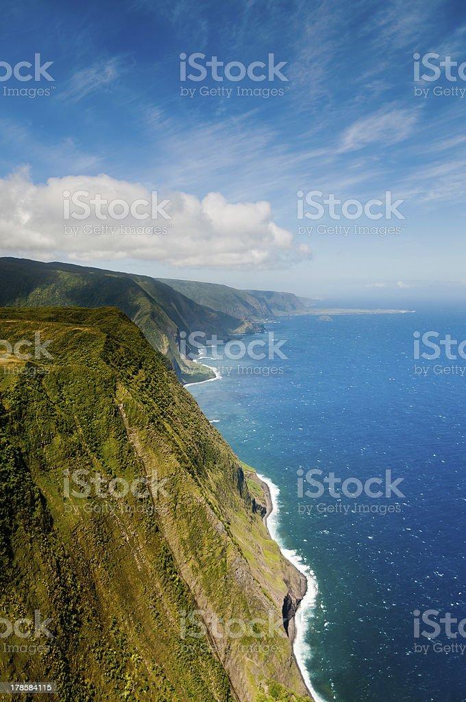 Coastline of Molokai island stock photo