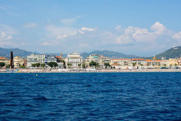 Coastline of Nice, 2019, French Riviera, France stock photo