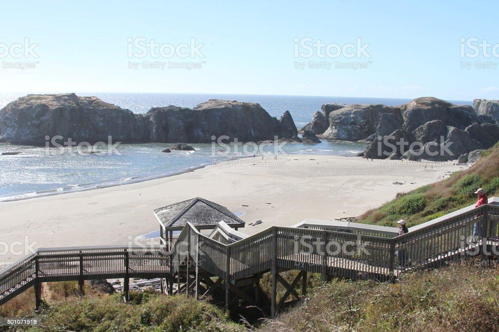 Coastline of oregon stock photo