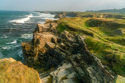 istock Coastline of Playa de las Catedrales. North Spain, Galicia 1068359170