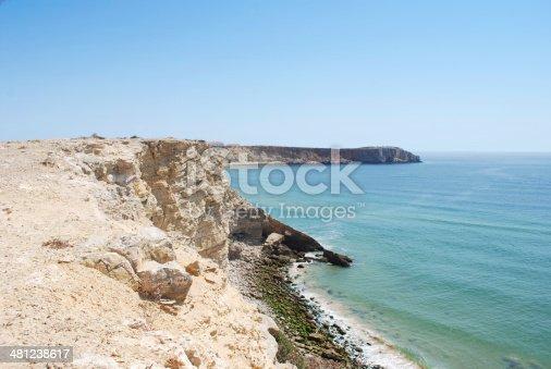 Coastline of Portugal in Sagres