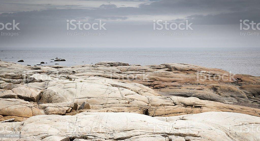 Coastline of Quebec royalty-free stock photo