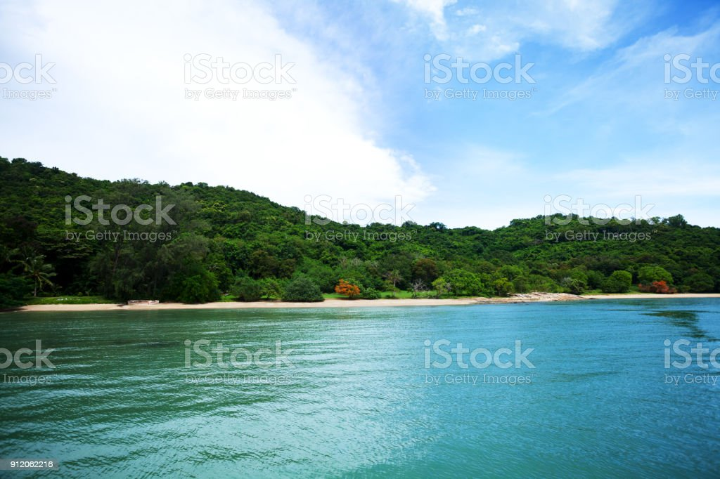 Coastline of Rayong stock photo