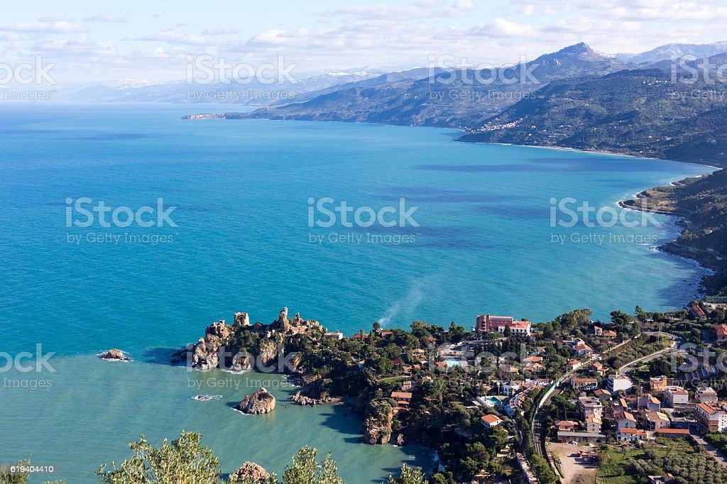 coastline of Sicily in Italy - foto stock