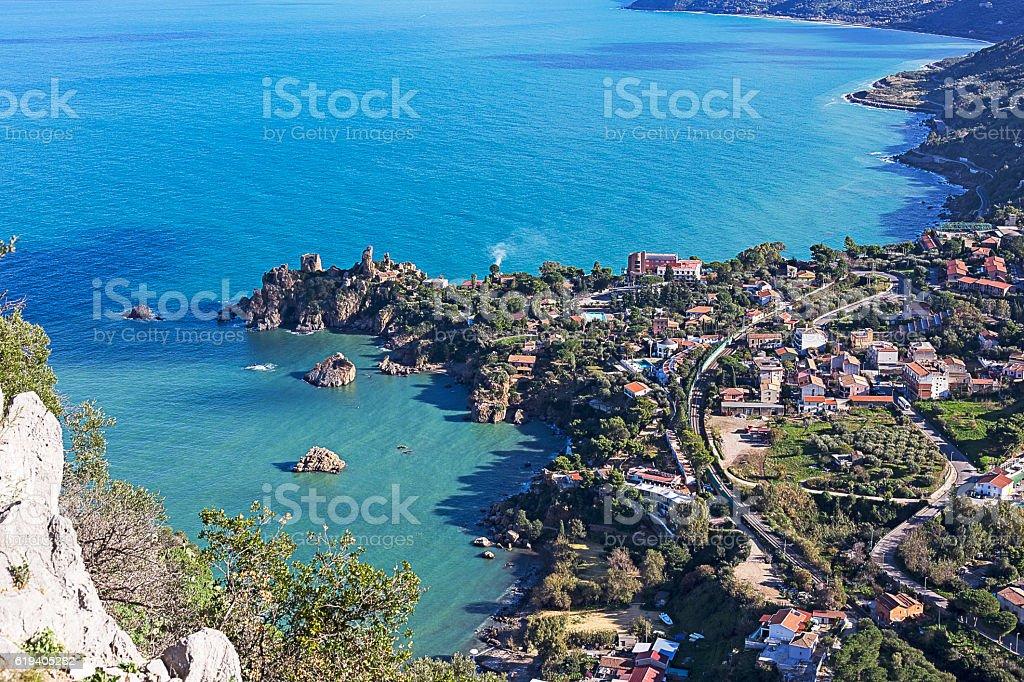 coastline of Sicily - foto stock