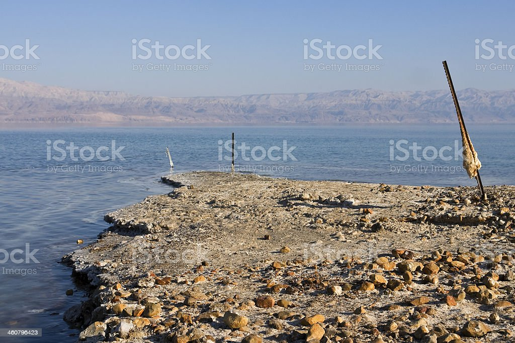 Coastline of the dead sea royalty-free stock photo