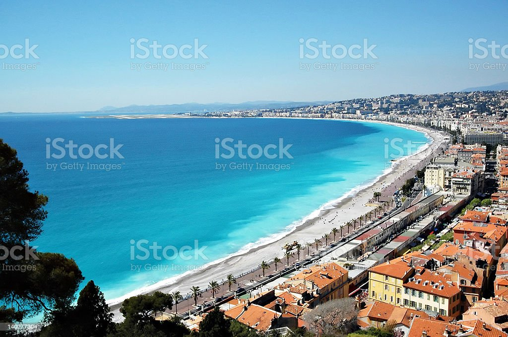 Coastline off Nice, France royalty-free stock photo