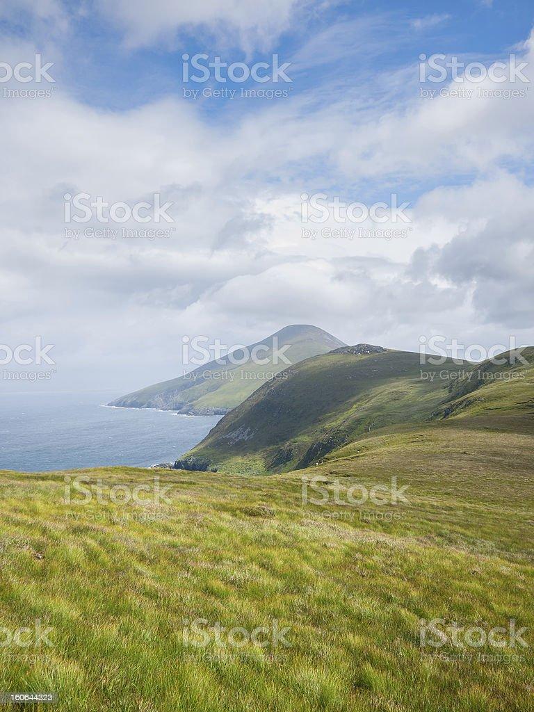 Coastline on Achill Island, Ireland stock photo