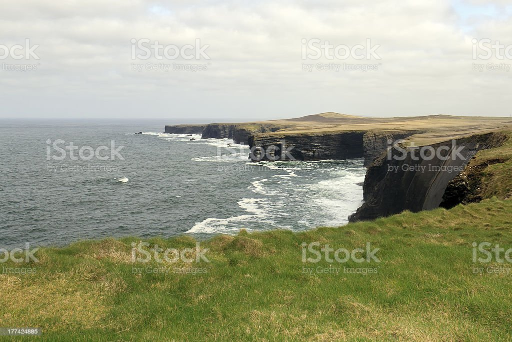 Coastline on Loop Head Peninsula, County Clare, Ireland royalty-free stock photo