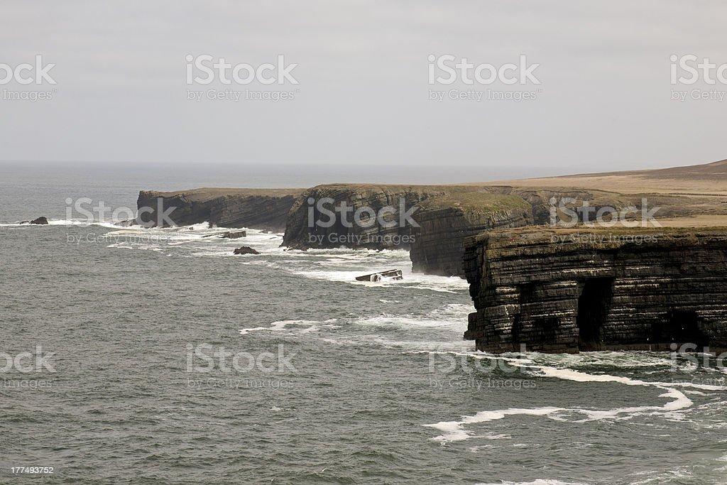 Coastline on Loop Head Peninsula, County Clare, Ireland royalty-free stock photo