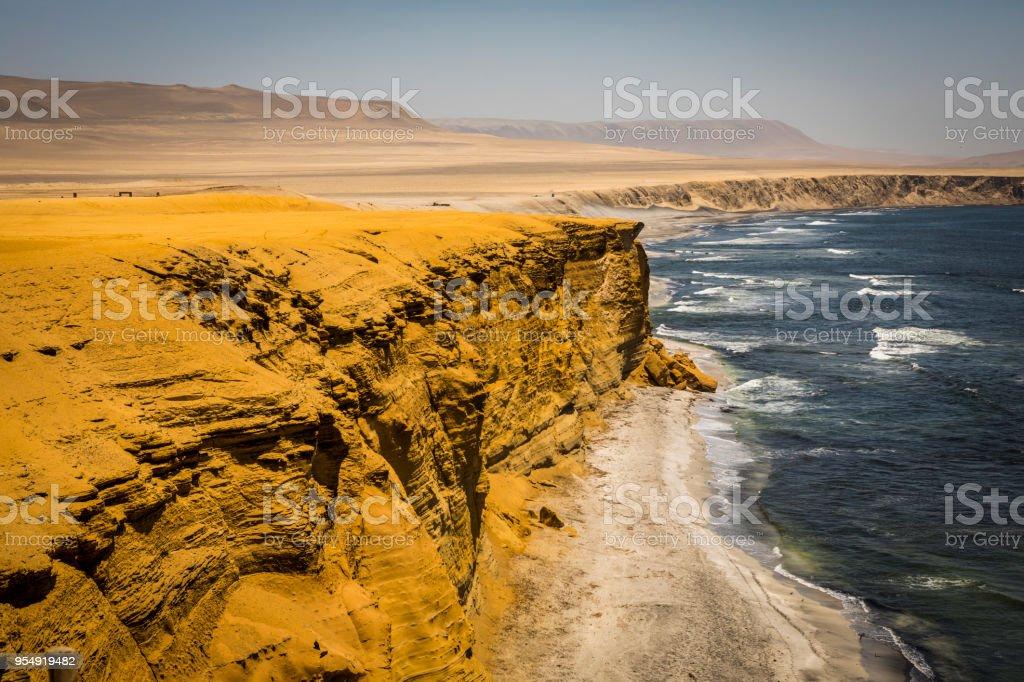 Coastline, Paracas National Reserve. stock photo
