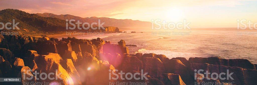 Coastline Punakaiki New Zealand Destination Concept stock photo