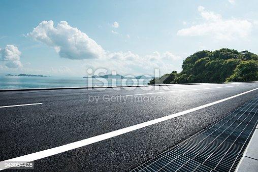 coastline road in the sunmmer