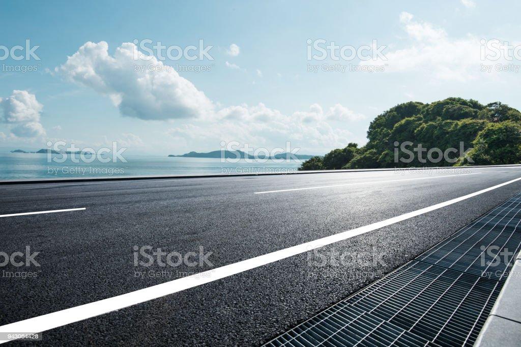 coastline road stock photo