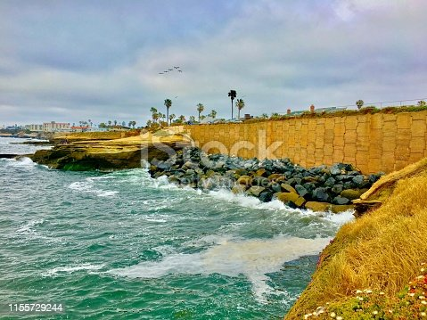 sunset cliffs natural park - ocean beach - san diego, ca