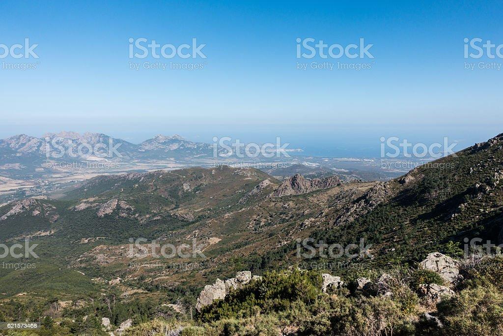 Coastline view from GR20 photo libre de droits