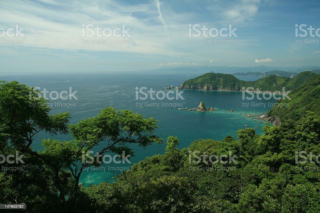 Coastline view stock photo