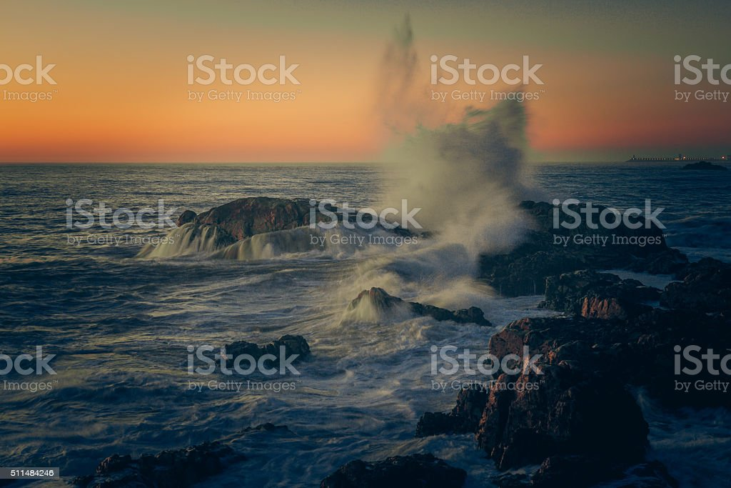 Coasts of Portugal stock photo