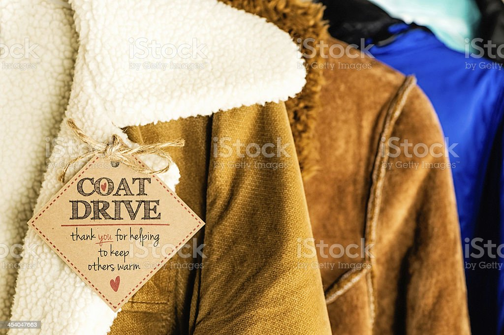 Coat Drive Promotion stock photo