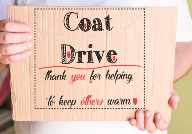 Coat Drive Promotion - foto stock