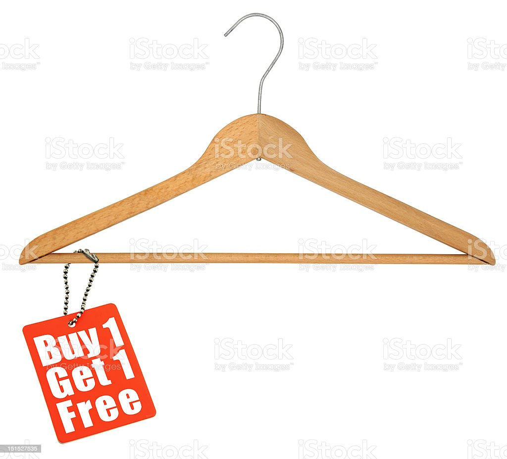coat hanger and sale tag royalty-free stock photo