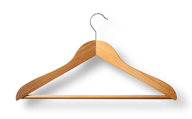 Coat hanger. Wooden coat hanger. Photo with clipping path. Similar photographs from my portfolio: coathanger stock pictures, royalty-free photos & images
