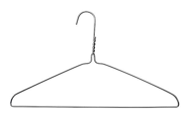 Coat Hanger Classic wire coat hanger with clipping path coathanger stock pictures, royalty-free photos & images