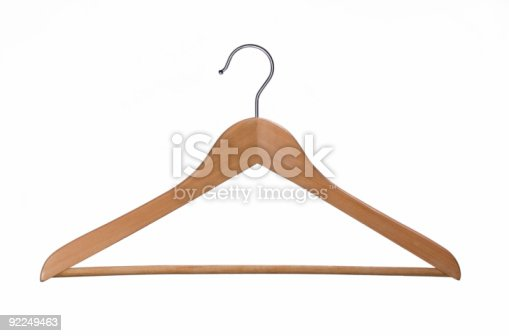 Wooden coat hanger. Other images from the seris.
