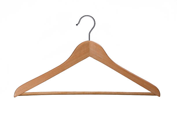 Coat Hanger Wooden coat hanger. Other images from the seris. coathanger stock pictures, royalty-free photos & images