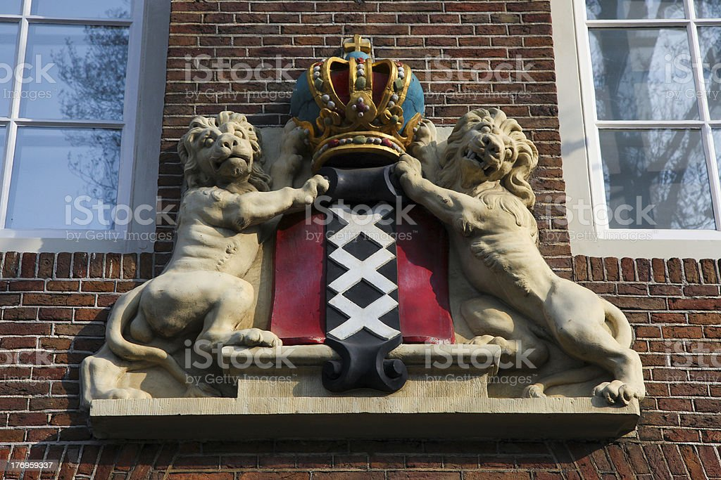 Coat of Arms, Amsterdam royalty-free stock photo