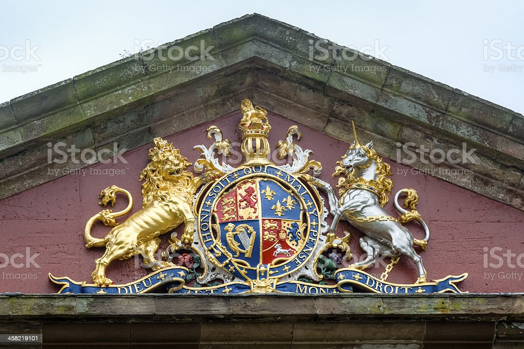 Coat of Arms in Brilliant Color - King George I royalty-free stock photo