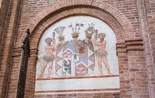 Coat of Arms in Sanct Bendts Church, Ringsted, Denmark stock photo