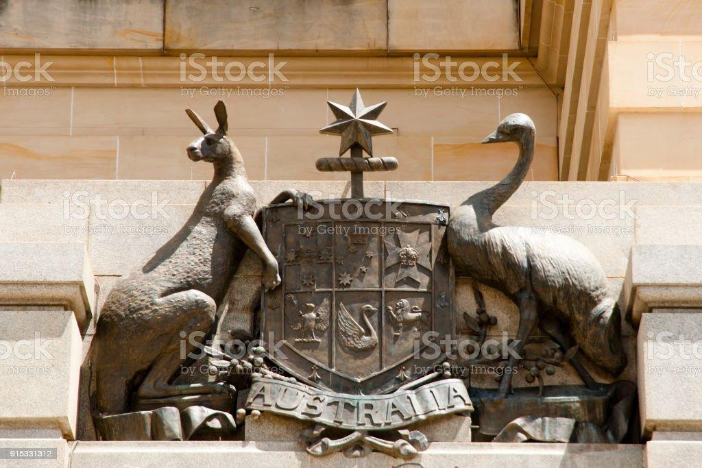 Coat of Arms of Australia Coat of Arms of Australia Architecture Stock Photo