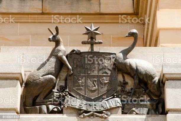 Coat Of Arms Of Australia Stock Photo - Download Image Now