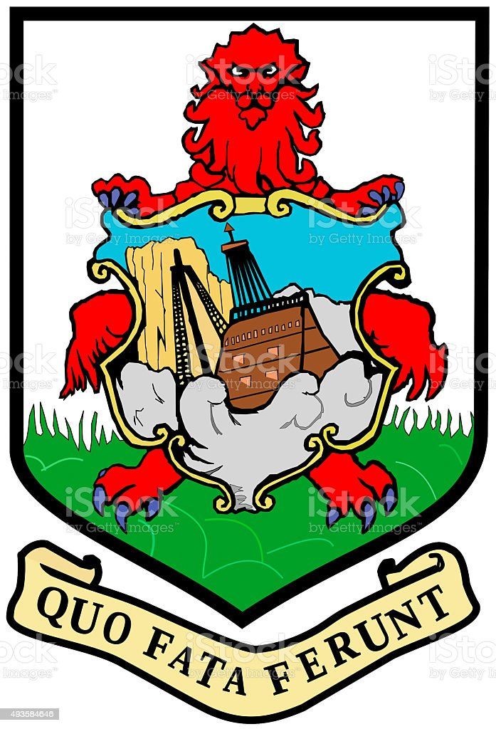 Coat of arms of  Bermuda stock photo