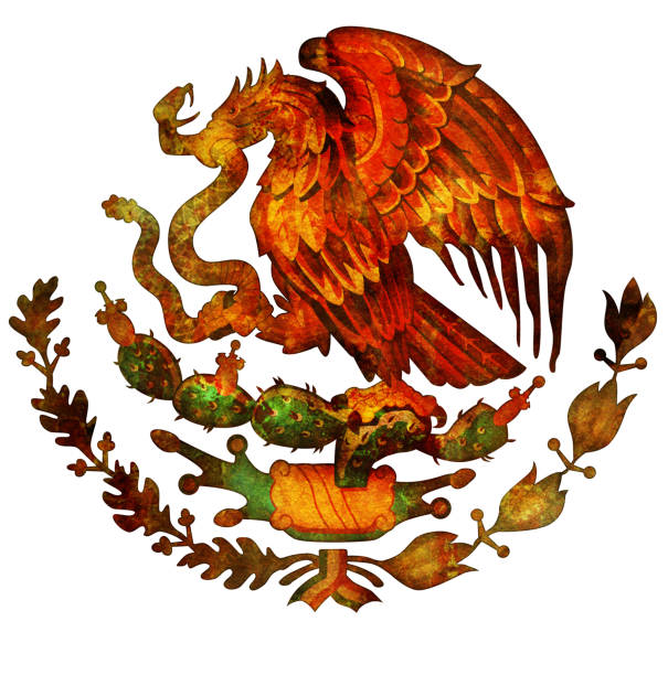 coat of arms of mexico stock photo