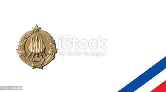 istock coat of arms of non-existing Federal National Republic of Yugoslavia 1311170046