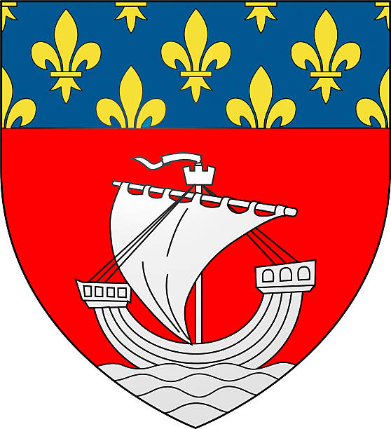 Coat of arms of Paris - France stock photo