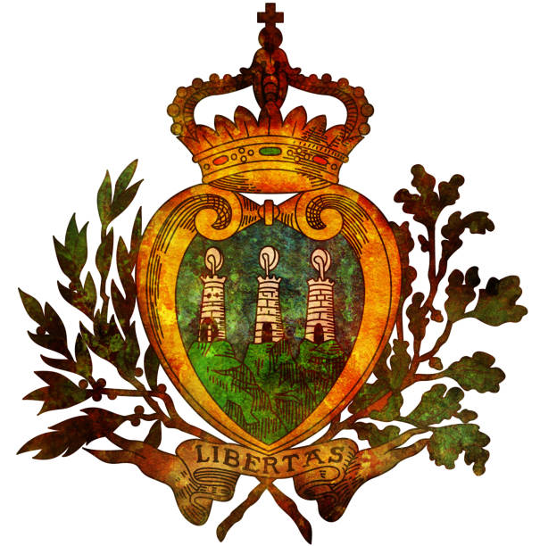 coat of arms of san marino stock photo