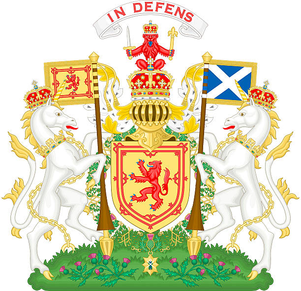 Coat of arms of Scotland stock photo