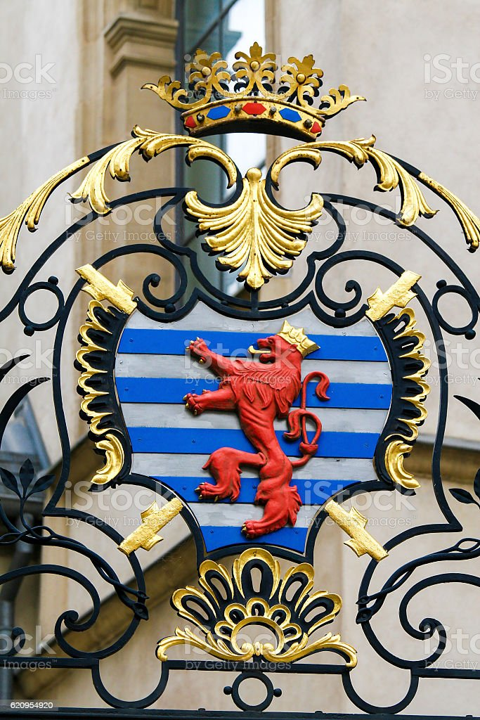 Coat of Arms of the Archduke of Luxembourg stock photo
