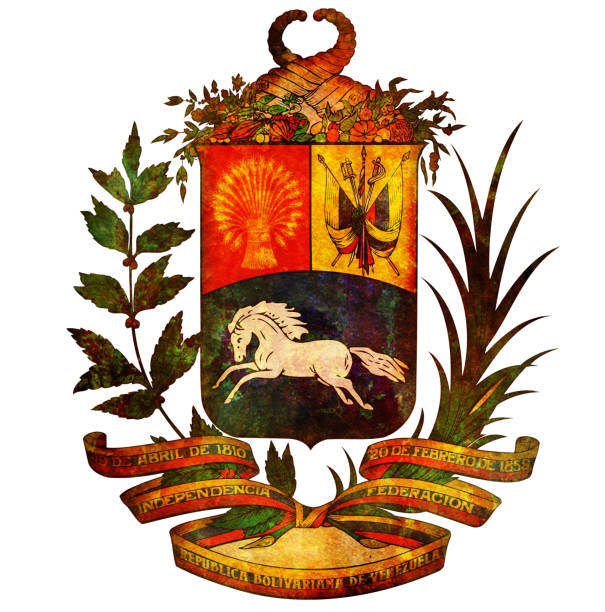 coat of arms of venezuela stock photo