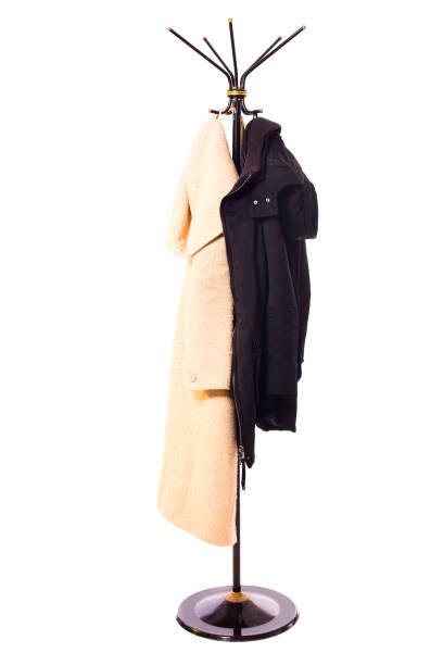 coat rack stock photo