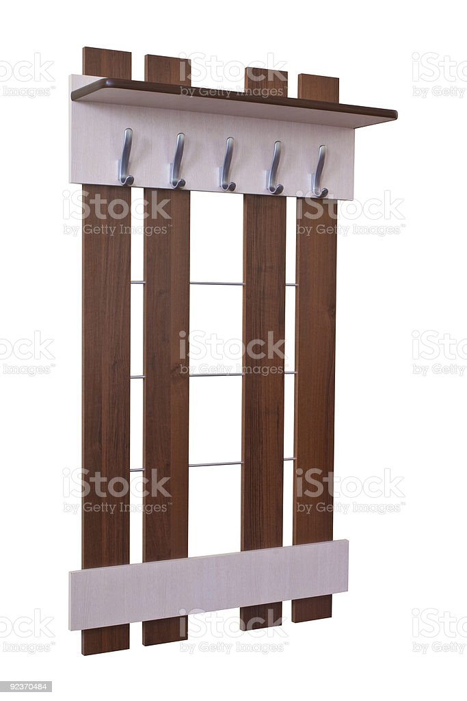 Coat rack royalty-free stock photo