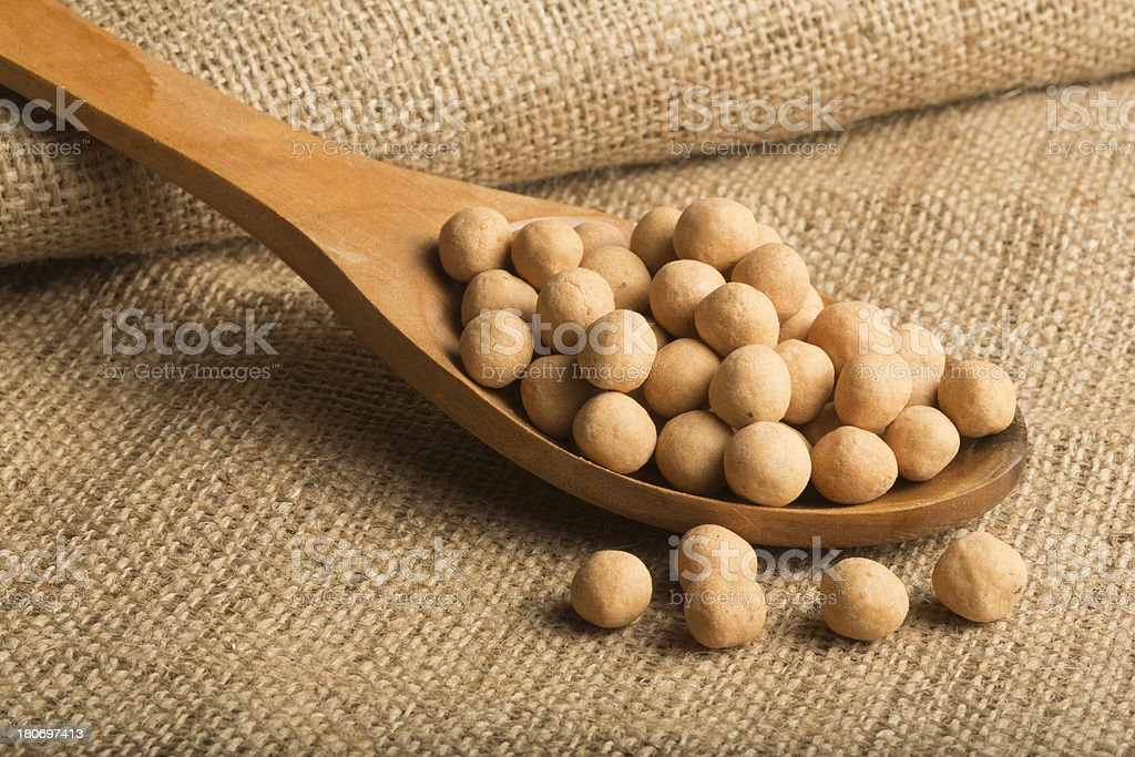 Coated Chickpeas royalty-free stock photo