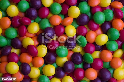 Background of coated multicolored candy