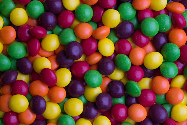 Coated multicolored candy stock photo