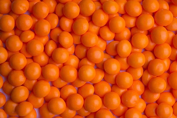 Coated orange candy stock photo