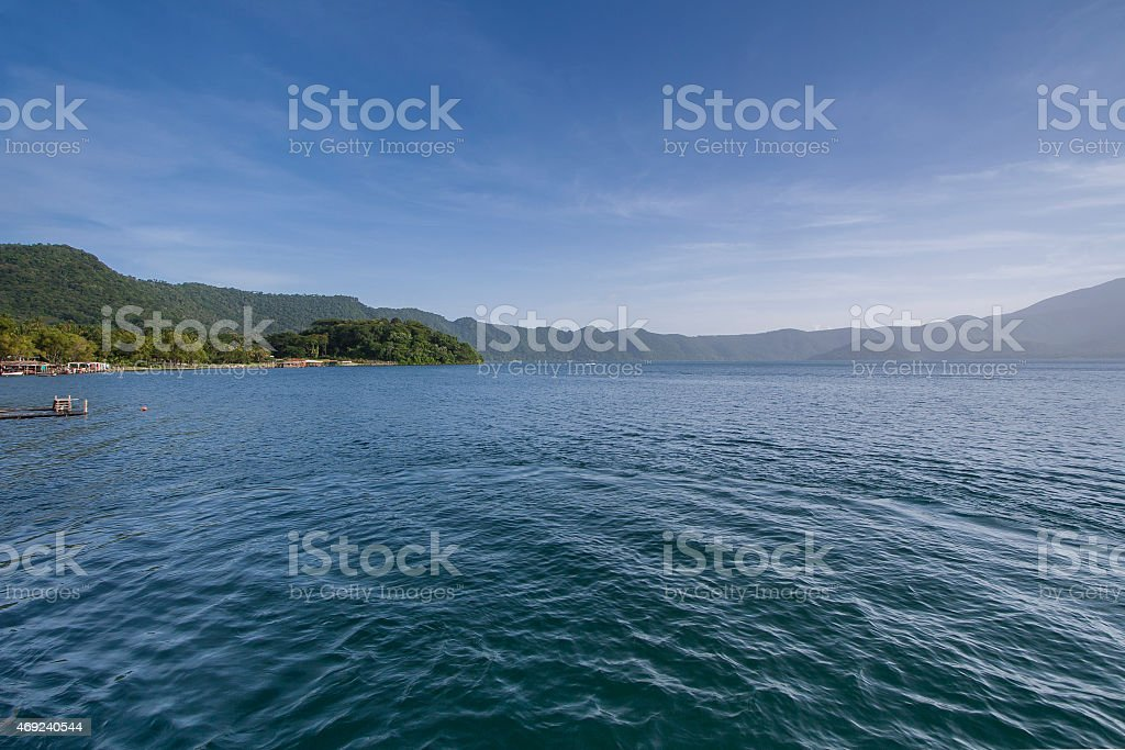 Coatepeque lake, El Salvador stock photo